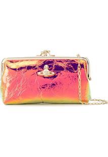 Vivienne Westwood Clutch Metalizada - Dourado