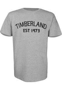 Camiseta Timberland Masculina Tape - Masculino-Cinza+Preto