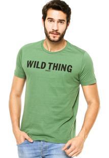 Camiseta Manga Curta Colcci Eild Thing Verde