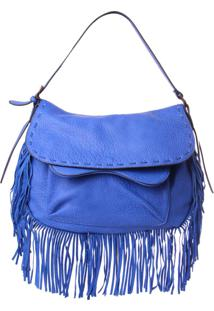 Bolsa Real Arte Com Franjas Azul