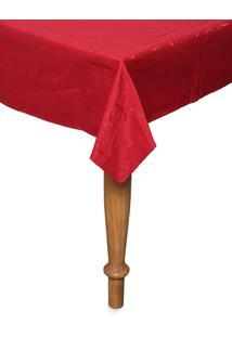 Toalha De Mesa Retangular Karsten Celebration Veríssimo 160X320Cm Vermelha