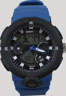98c8110b2c2 CEA. Relógio Speedo Masculino Azul Preto Analógico Anadigi Digital Silicone  - Único 81158g0evnp1