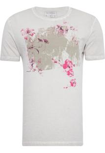 Camiseta Masculina Estampa Califórnia - Cinza