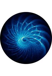 Tapete Love Decor Redondo Wevans Abstrato Azul 94Cm - Azul - Dafiti