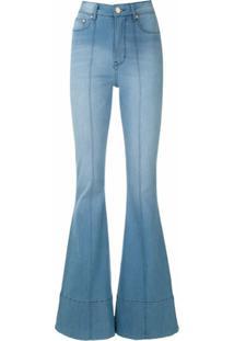 Amapô Calça Jeans Boca De Sino Wanda - Azul