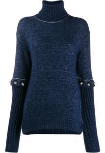 Chloé Suéter Com Mangas Removíveis - Azul