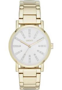 Relógio Dkny Feminino - Feminino-Dourado