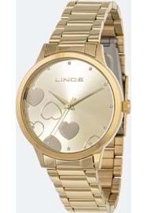 Kit Relógio Feminino Lince Lrgh078L Kv25C1Kx Analógico 5Atm + Conjunto Semijóia