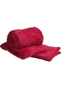 Manta De Microfibra Casal- Vermelha- 180X205Cm- Sultan