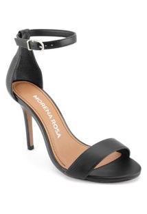Sandalia Salto Alto Lisa Preto