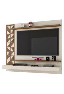 Painel Home Suspenso Para Tv Até 60 Polegadas Mosaic Off White/Canela - Frade Movelaria