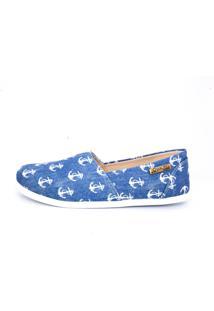 Alpargata Quality Shoes 001 Jeans Âncora Azul