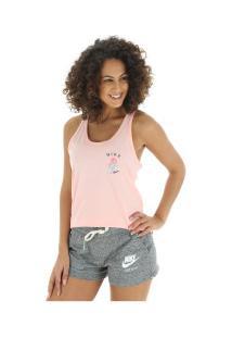 ... Camiseta Regata Nike Sportswear Tank Racer Art - Feminina - Rosa Claro e1d5cfd6b2d40
