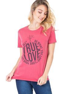 Blusa Estampada True Love Rosa Escuro