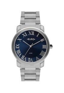 Relógio Euro Feminino Roman Basic Prata Eu2036Ynn/3A Eu2036Ynn/3A