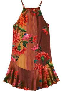 Vestido Com Alças Estampado Souk - Lez A Lez