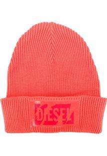 Diesel Gorro Com Logo - Vermelho