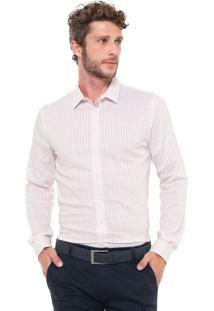 Camisa Forum Reta Listrada Rosa