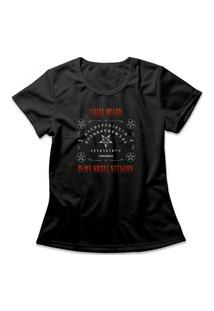 Camiseta Feminina Ouija Board Preto