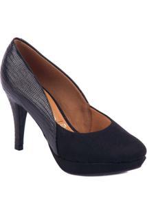 Sapato Salto Fino - Vizzano - Feminino-Preto
