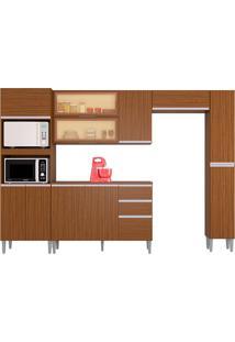 Cozinha Compacta C/ Balcão E Painel Aline-Poquema - Capuccino
