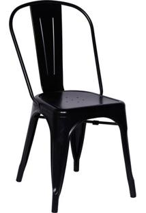 Cadeira De Jantar Retrã´- Preta- 86X36X35,5Cm- Oror Design
