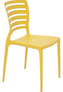 Cadeira Tramontina 92237000 Sofia Encosto Vazado Horizontal Amarela