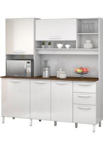 Armário De Cozinha Diamante 5 Portas Branco Vitamov