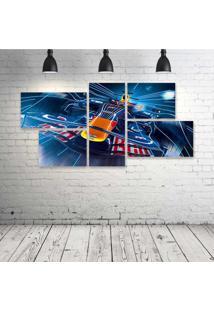 Quadro Decorativo - Formula-1-Red-Bull-Rb4-Race-Car-Racing - Composto De 5 Quadros - Multicolorido - Dafiti