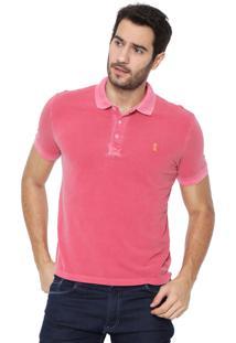 Camisa Polo Sergio K Reta Washed Rosa