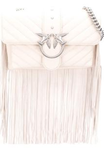 Pinko Quilted Cross Body Bag - Branco