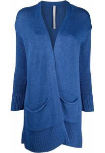 Antonella Rizza Open-Front Knitted Cardigan - Azul