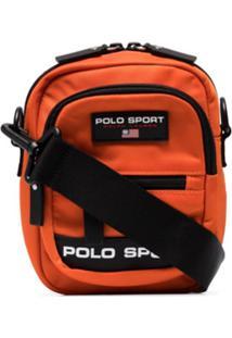 Polo Ralph Lauren Logo Patch Messenger Bag - Laranja