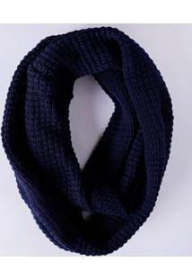 Cachecol Feminino Azul Marinho