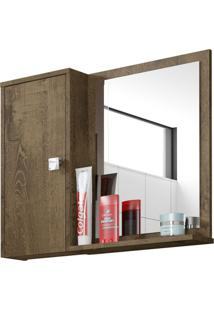 Armário Para Banheiro 1 Porta Gênova Madeira Rústica - Bechara Móveis