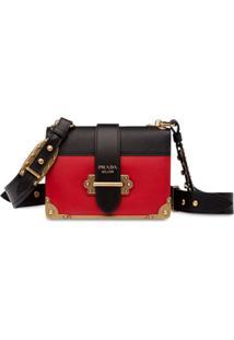 Prada Bolsa Tiracolo Cahier - Vermelho