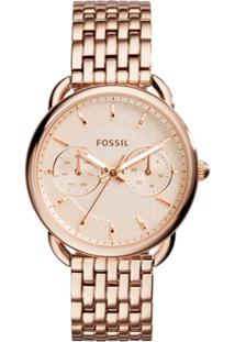 Relógio Fossil Feminino Ladies Tailor - Es3713/1Jn Es3713/1Jn - Feminino-Rose Gold