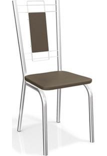 Cadeira Kappesberg Florença 2C005Cr (2 Uni) Coma/Marrom