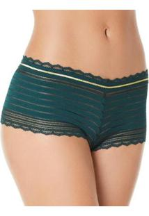 Liz Injoy Calcinha Boxer Streamline 80910 Feminina - Feminino-Verde Escuro