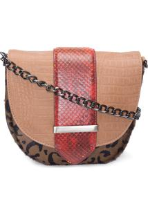 Bolsa Feminina Mix Textura - Animal Print