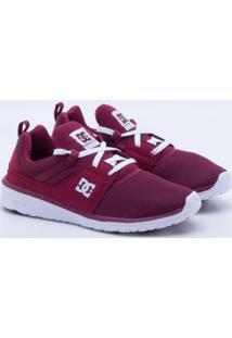 Tênis Dc Shoes Heathrow Imp Vermelho Feminino 36