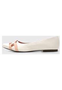 Sapatilha Dafiti Shoes Recortes Branca