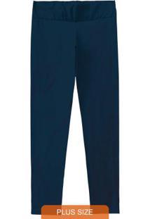 Calça Legging Azul Escuro Cotton Conforto