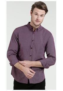 Camisa Masculina Listrada Manga Longa Marisa