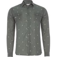 Camisa Masculina Manga Longa Breja - Verde 021001458ec