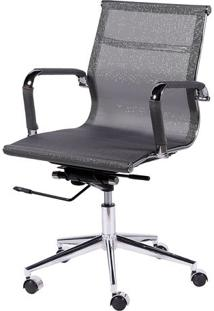 Cadeira Office Eames Em Tela- Cinza- 97X61X47Cm-Or Design
