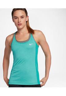 Regata Nike Dri-Fit Miler Feminina - Feminino-Verde Água