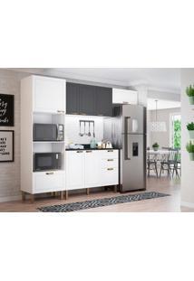 Cozinha Compacta Nevada Viii 7 Pt 4 Gv Branca E Grafite