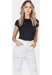 ab86a2e58 ... Calça Mom Jeans Com Bordado Branco Off White - Lez A Lez