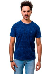 Camiseta Manga Curta Dom Romeu Estonada Azul